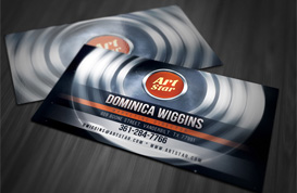Abstract Circles Business Card Template