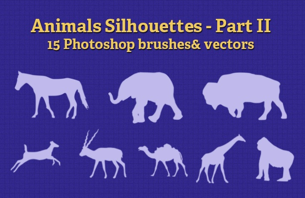 Animals Silhouettes - Part II