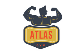 Atlas Gym Logo Template