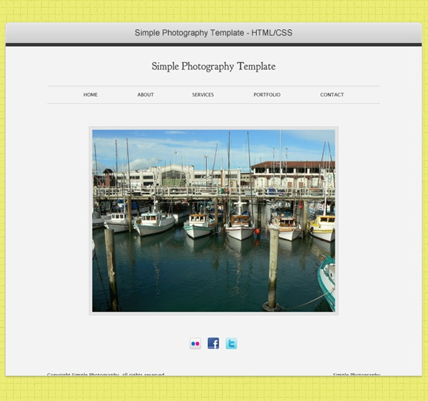 Simple Browser Frame PSD