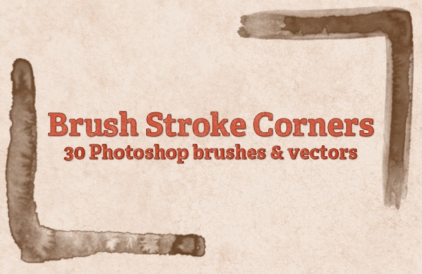 Brush Strokes Corners