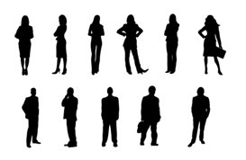 Businessperson Silhouettes