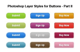 Photoshop Layer Styles for Buttons – Part II