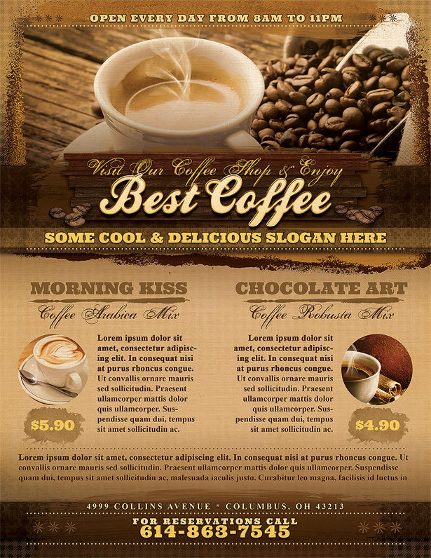 Coffee Shop Flyer Template - Vandelay Design