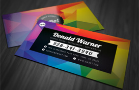 Color Explosion Business Card Template