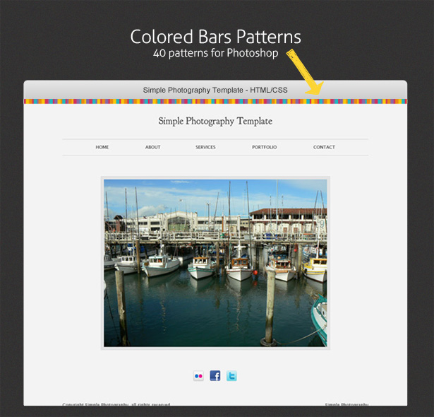 Colored Bars Patterns