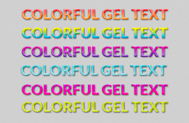 Colorful Gel Text Styles