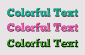 Colorful Text Styles