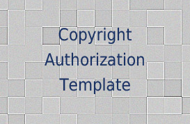 Copyright Authorization Template