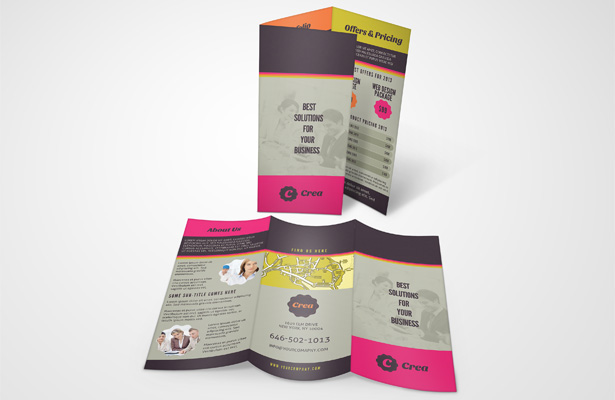Design Services Tri-Fold Brochure