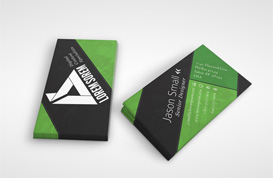 Diagonal Lines Business Card Template