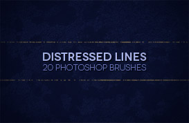 Distressed Lines Photoshop Brushes