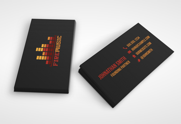 301 moved permanently for Music business card template