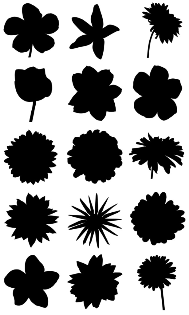 Flowers Silhouettes