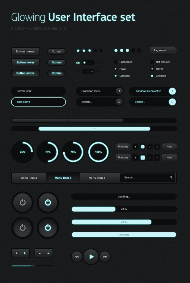 Glowing UI Set