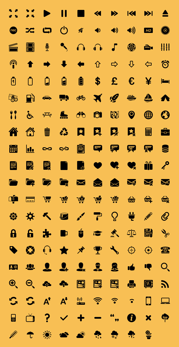 Minima Icon Set