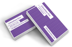 Grid Pattern Business Card Template