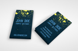 Grunge Splatter Business Card Template 2