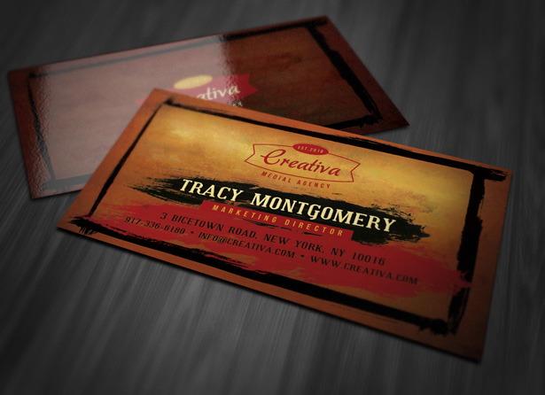 Grungy Business Card Template