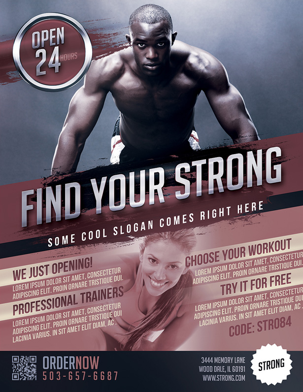 Gym Flyer Template  Vandelay Design