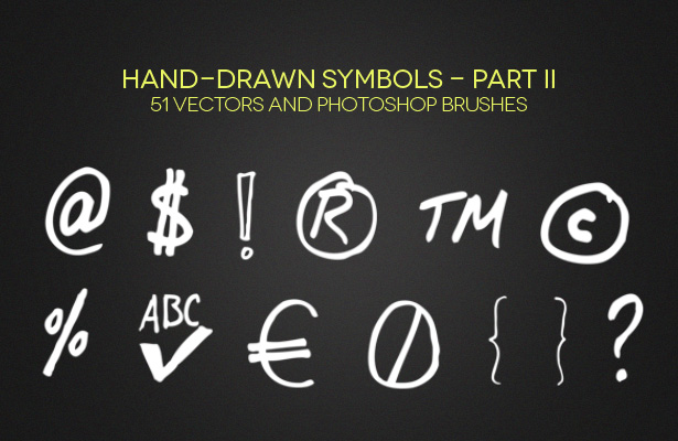 Hand-Drawn Symbols - Part II