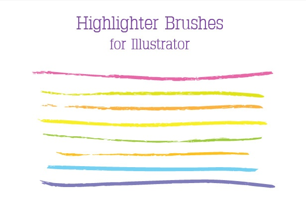 Highlighter Brushes for Illustrator