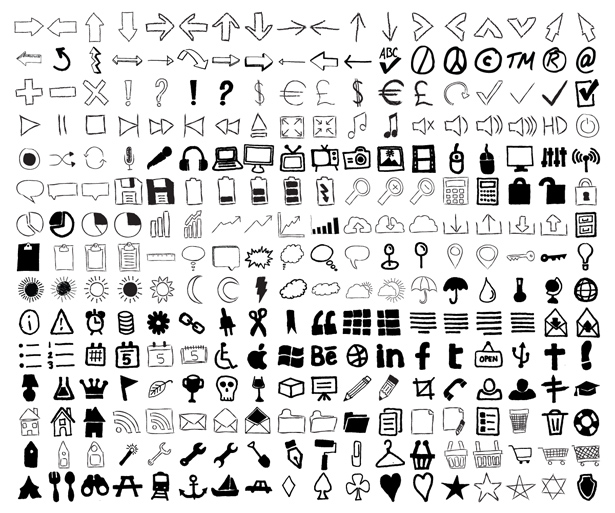 Imperfect: Hand-Drawn Icon Set
