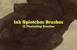 Ink Splotches Photoshop Brushes