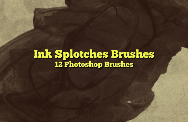 Ink Splotches Brushes