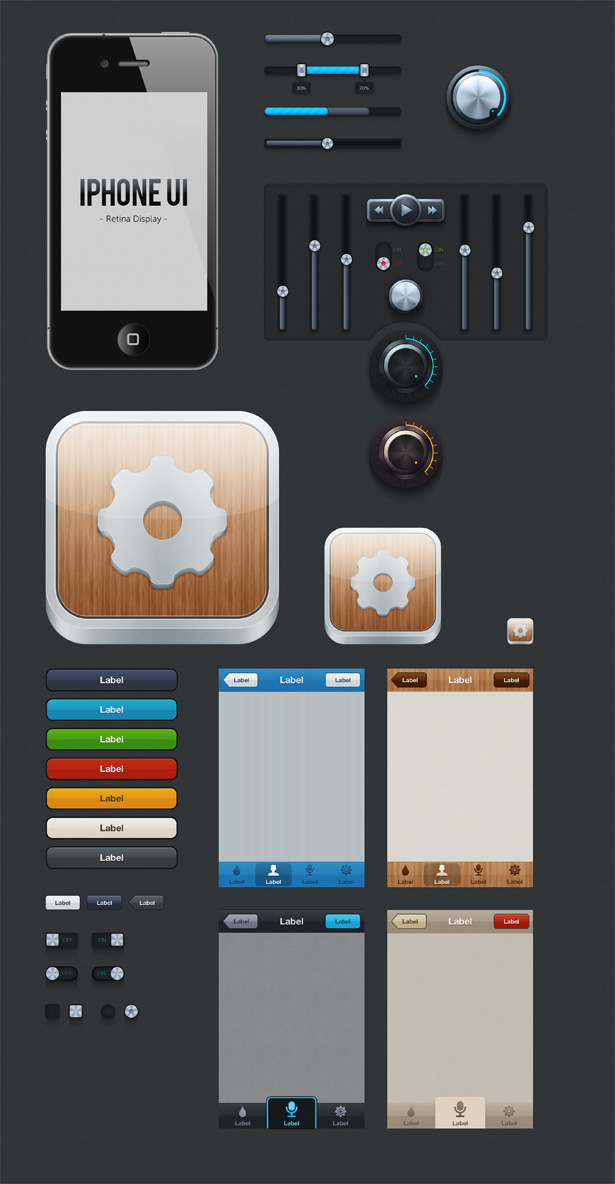 iPhone UI Set