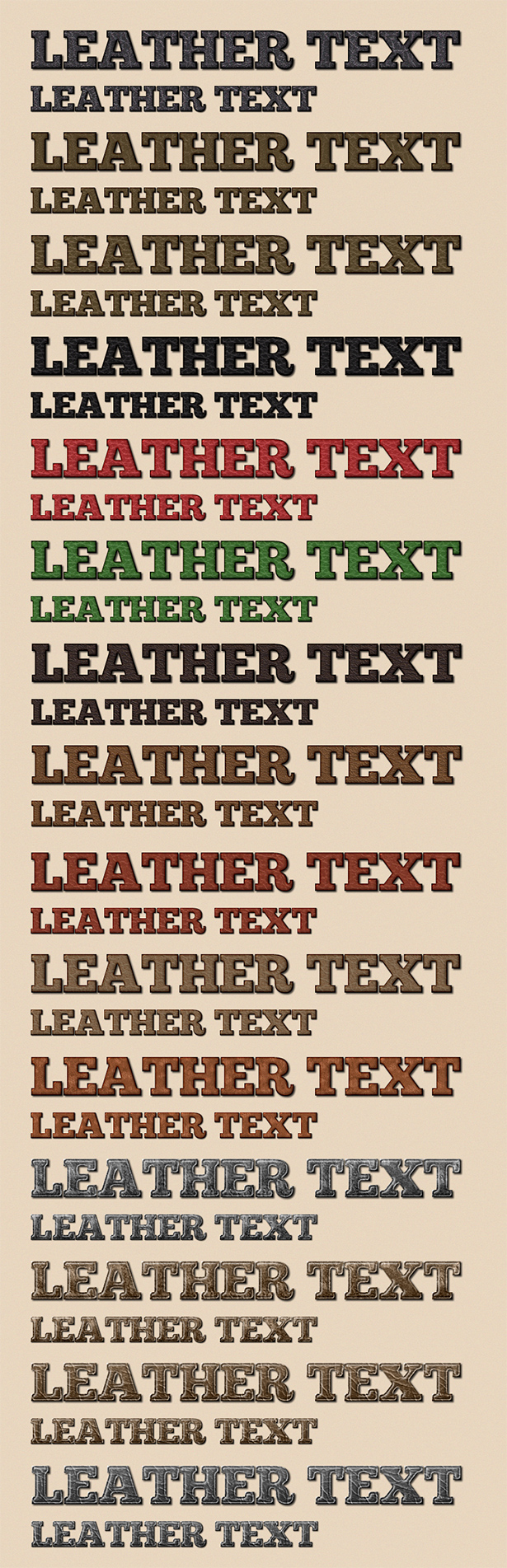 Leather Text Styles