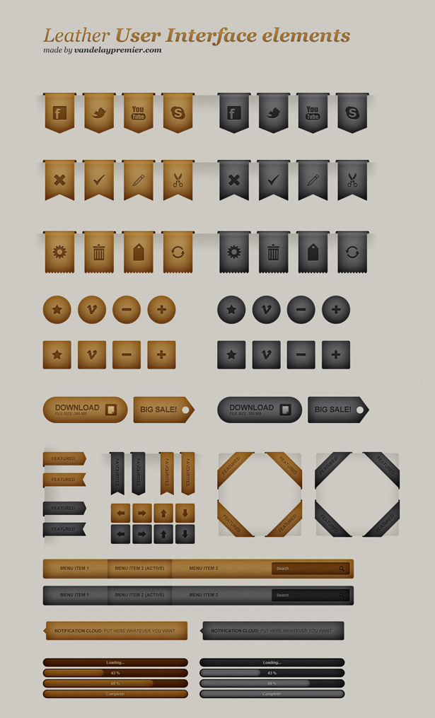 Leather UI Set