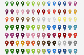 Location Markers PSD