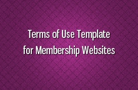 Terms of Use Template for Membership Websites