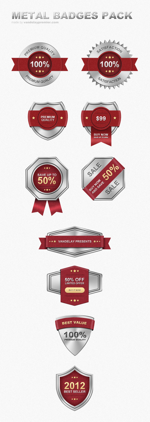 Metal Badges PSD