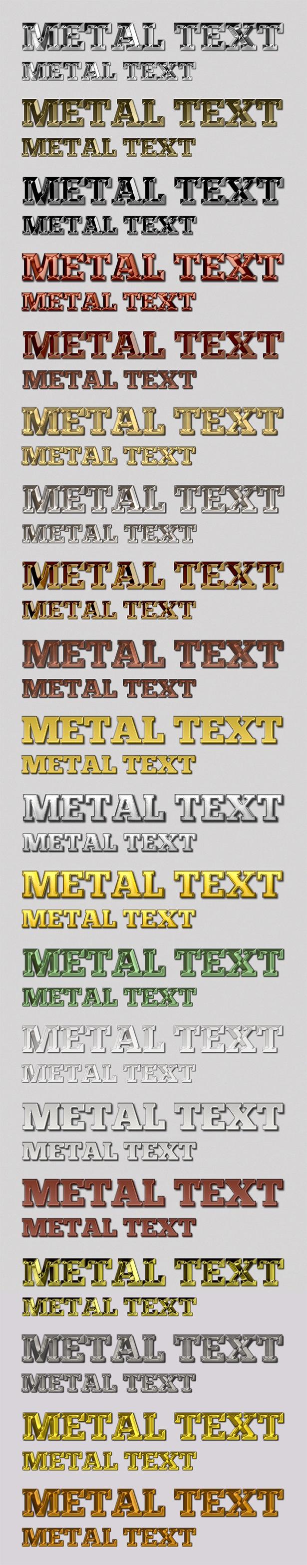 Metal Text Styles