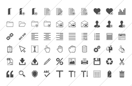 Minimal User Interface Icons