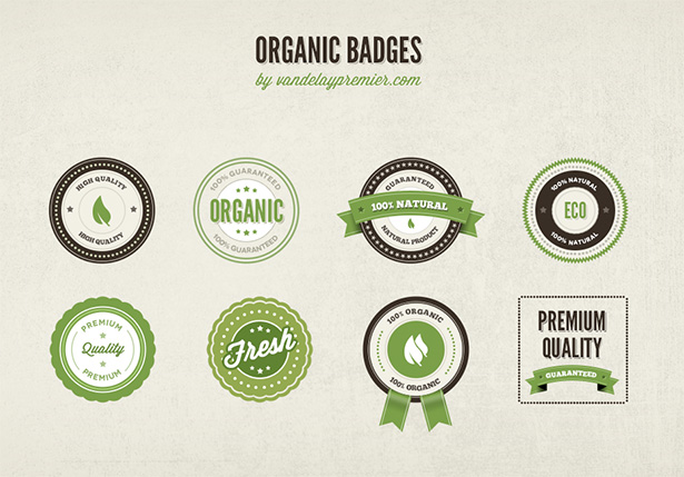 Organic Badges PSD
