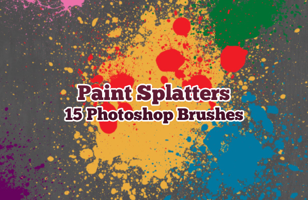 Paint Splatters Brushes