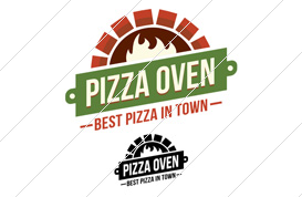 Pizza Oven Logo Template