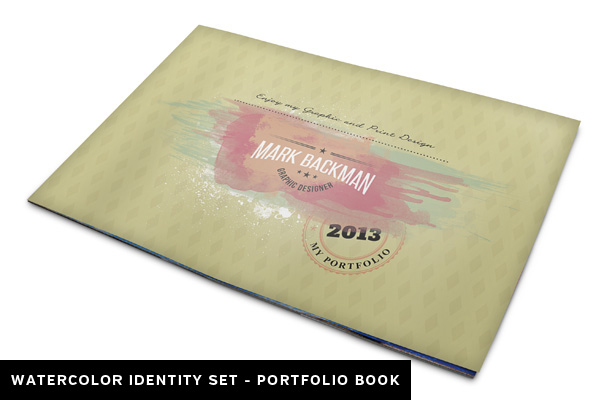 Watercolor Portfolio Book Template