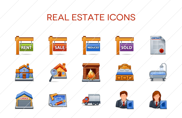 15 Real Estate Vector Icons