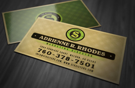 Retro Patterned Business Card Template