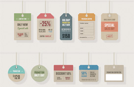 Retro Tags PSD