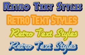 Retro Text Styles for Photoshop