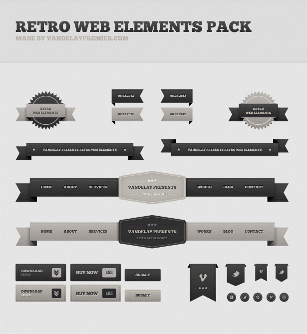 Retro Web Elements Pack