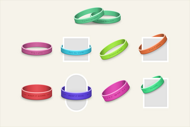 Rubber Ribbons PSD