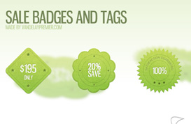 Sale Badges and Tags PSD
