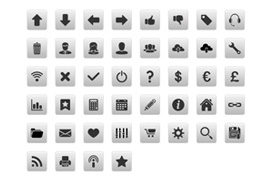 Simple Icon Buttons