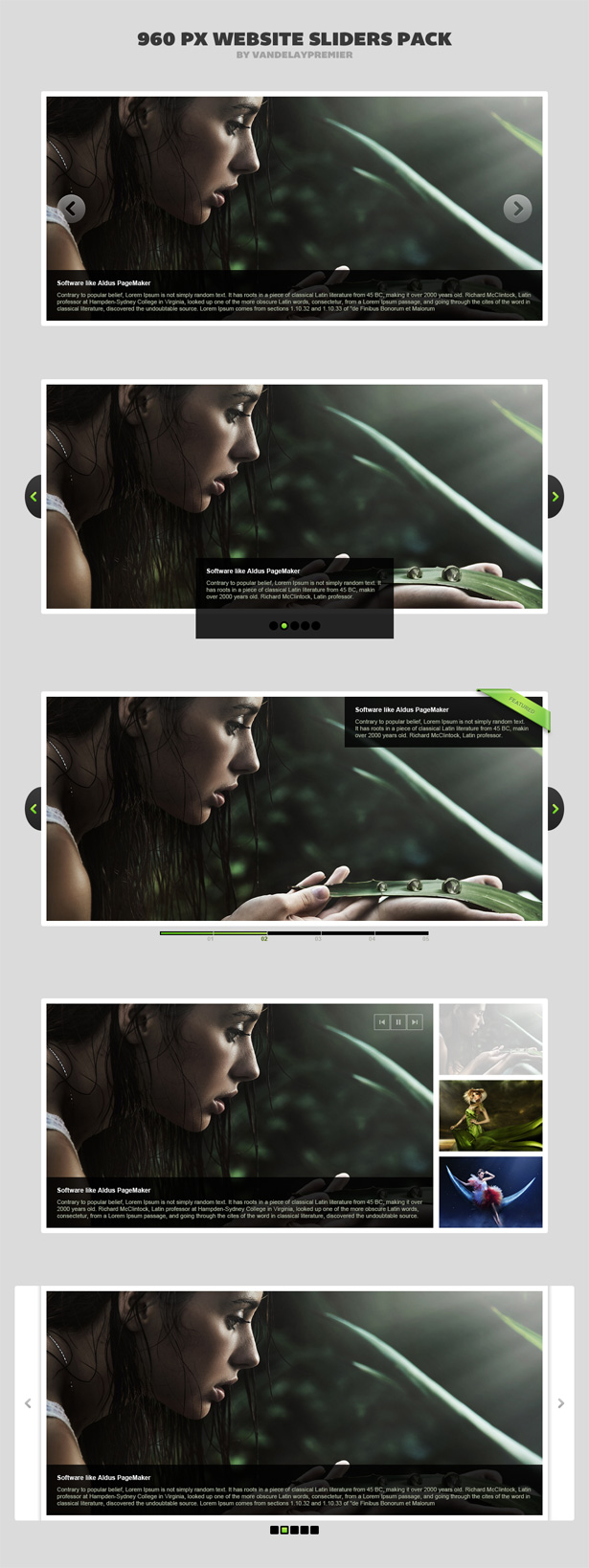 Web Sliders PSD